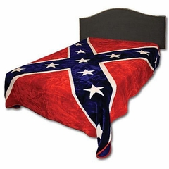 Rebel Flag Print Fleece Throw Blanket