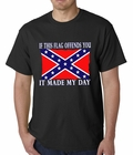 Confederate Flag Tshirt - If This Flag Offends You It Made My Day T-Shirt