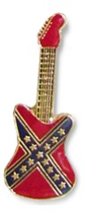 Rebel Guitar Lapel Pin