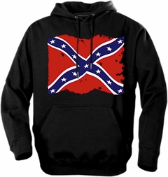 Rebel & Redneck Hoodies - Torn Flag of the Confederacy Hooded Sweatshirt
