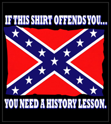 Rebel & Redneck Tees - Confederate Flag History Lesson T-Shirt