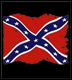 Rebel & Redneck Tees - Torn Flag of the Confederacy T-Shirt