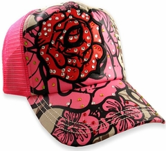 "Rebel Spirit ""Rosa d'amore Couture"" Girly Trucker Hat"