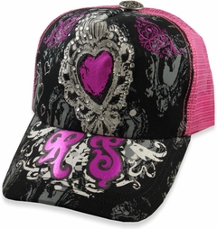 "Rebel Spirit ""Sweetheart Couture"" Girly Trucker Hat"