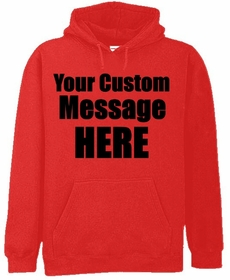 Red Custom Hooded Sweatshirt