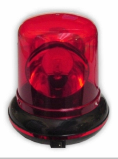 Red Plug in Rotating Warning Police Siren Light <!-- Click to Enlarge-->