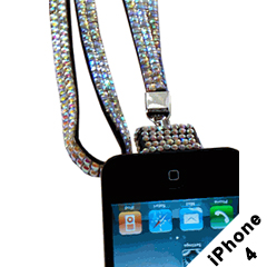 Rhinestone Lanyard Necklace for iPhone 4 / 4S / iPod Touch