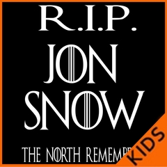 RIP Jon Snow - The North Remembers Kids T-shirt