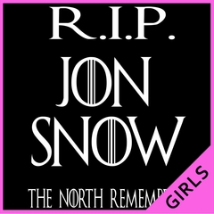 RIP Jon Snow - The North Remembers Ladies T-shirt