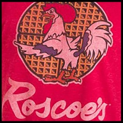 ROSCOE House of Chicken and Waffles Mens T-shirt