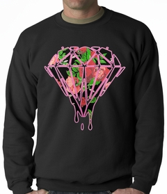 Roses Dripping Diamond Adult Crewneck