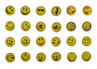 Round Yellow Happy Face Emoji Earrings (12 Pair)