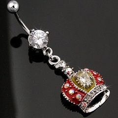Navel Body Jewelry - Royal Crown Navel Jewelry