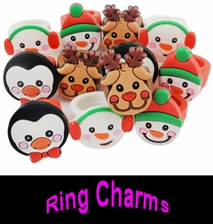 Rubber Christmas Rings  (12 Pack)