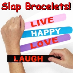 Rubber Saying Slap Bracelets