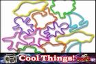 Rubberband Bracelets - Cool Things Fun Shapes Rubber Band Bracelet (12 Pack)