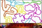 Rubberband  Bracelets - Rock - n - Rebel Fun Shapes Rubber Band Bracelet (12 Pack)