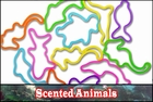 Rubberband Bracelets - Scented Animal Fun Shapes Rubber Band Bracelet (12 Pack)