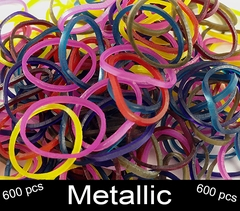 Rubberband Looms - Metallic 600 Fun Loop Pieces