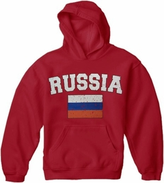 Russia Vintage Flag International Hoodie