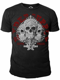 Ryder Supply Clothing - 3 Skulls Mens T-shirt (Black)