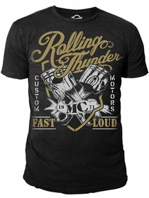Ryder Supply Clothing - Thunder Mens T-shirt (Black)