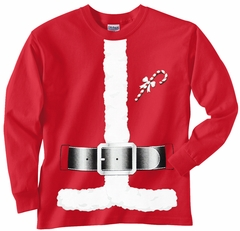 Santa Claus Christmas Costume Men's Long Sleeve T-Shirt