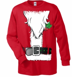 Santa's Beard Tux Men's Long Sleeve T-Shirt