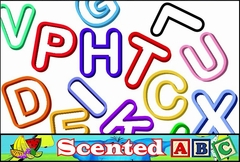 Scented Rubberband Bracelets - Alphabet Fun Shapes Scented Rubber Band Bracelet (12 Pack)