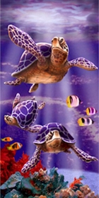 Sea Turtles Beach/Bath Towel