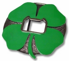 Shamrock Bottle Opener Belt Buckle With FREE Belt