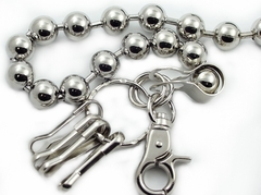 Silver Ball 30 inch Jean & Wallet Chain
