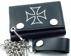 Silver Iron Cross Chain Wallet