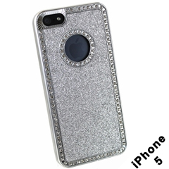 Silver Sparkle & Diamond iphone Case (iphone 4)