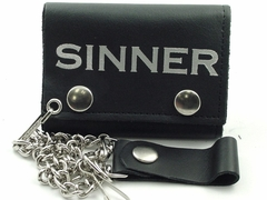 Sinner Genuine Leather Chain Wallet