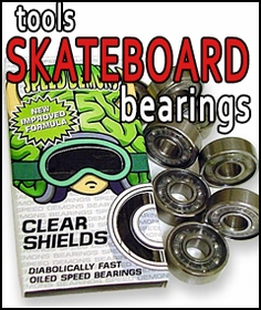 Skateboard Bearings, Hardware & Tools