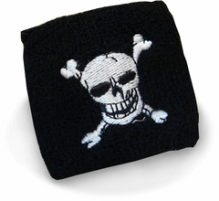 Skull and Crossbones Pair of  Warm Wristbands