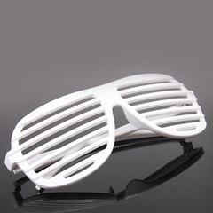 Slotted Glasses (White)