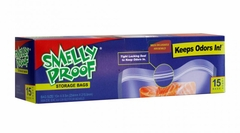 """Smelly Proof Bags - Box of 15 Large 8 1/2"""" x 10"""" Clear Bags"""