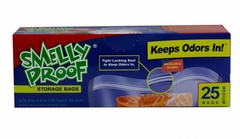 "Smelly Proof Bags - Box of 25 Medium 6 1/2"" x 7 1/2"" Clear Bags"