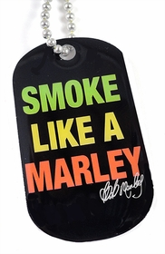 Smoke Like A Marley Dog Tag Necklace