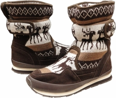 Snowjoggers - Original Rubberduck Snowjoggers (Sporty Brown Knit Reindeer)