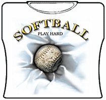 Softball Play Hard Girls T-Shirt