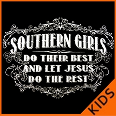 Southern Girls Do Their Best Kids T-shirt