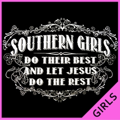 Southern Girls Do Their Best Ladies T-shirt