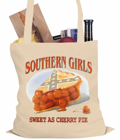 Southern Girls Sweet As Cherry Pie Tote Bag