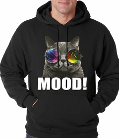 Spaced Mood Cat Adult Hoodie