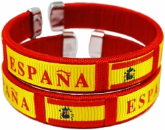 Spain International Flag Cuff Bracelet