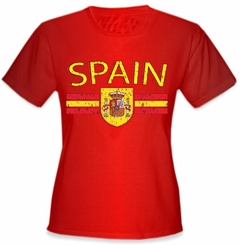 Spain Vintage Shield International Girls T-Shirt