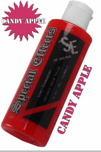 special effects hair dye candy apple red